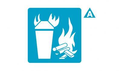 ขนาดและการติดตั้งถังดับเพลิง หรือเครื่องดับเพลิงสำหรับเพลิงประเภท ก. (Class A)
