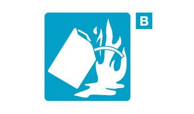 ขนาดและการติดตั้งถังดับเพลิง หรือเครื่องดับเพลิงสำหรับเพลิงประเภท ข. (Class B)