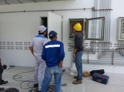 งานติดตั้งเดินท่อ ระบบดับเพลิงอัตโนมัติ ในห้องเก็บสารเคมีรุนแรง ไดกิ้น คอมเพรสเซอร์ อินดัสทรีส์ จำกัด จ.ระยอง